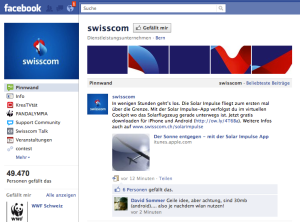 Swisscom in Facebook